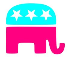 Republican Elephant Vinyl Decal by KatieBuggaDesigns on Etsy