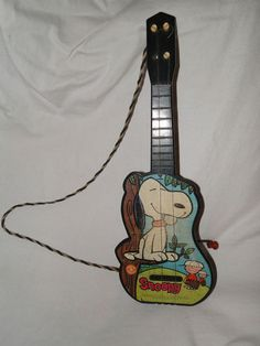 Vintage Mattel 1960's Snoopy Toy Musical Guitar Peanuts Character Charlie Brown | eBay