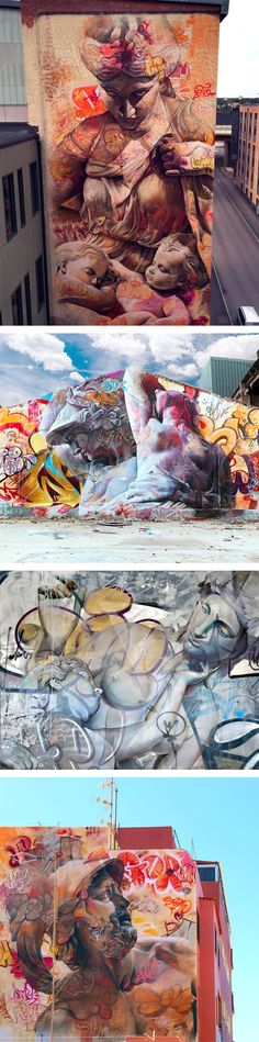 New Walls and Canvases by Pichi & Avo That Mix Classic Greek Imagery With Graffiti Writing