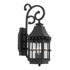 Taos Outdoor Wall Lantern In Espresso Finish With Seeded Glass 8449-E