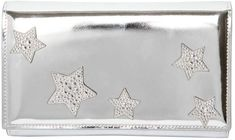 Giuseppe Zanotti Design Stars Metallic Leather Clutch
