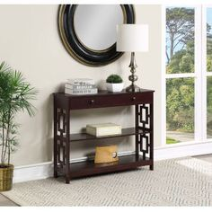 Butler Specialty Company Stowe Brown Console Table 5327354 | Bellacor Gold End Table, Marble End Tables, Round Accent Table, Accent Tables, Modern Console Tables, Wood Nightstand, Particle Board, Entryway Tables, Oxford