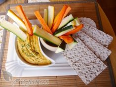 Party dip - Veganza.cz Party Dips, Hummus, Spreads, Cheese, Snacks, Healthy, Recipes, Food, Appetizers