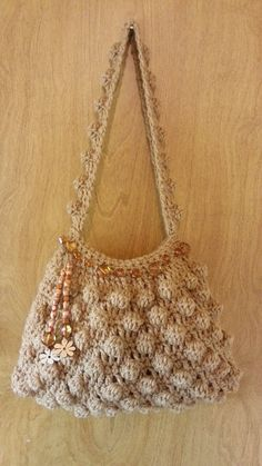 #Crochet Bobble Stitch Handbag Purse #TUTORIAL https://www.facebook.com/pages/Stylen-with-Cstyles-Bag-O-Day-Crochet/250904791744364