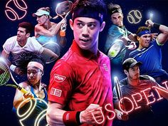 US Open 2017 graphic by WOWOW