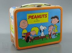 PEANUTS Lunch Box - metal 1966 ~ I think my brother had this one!  :)