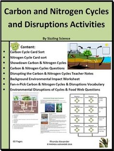 carbon dioxide and oxygen cycle worksheets for kids | Oxygen cycle ...