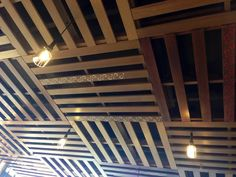 made from Pallets: Pallet Ceiling Diy, Basement Ceiling, Basement Wood ...