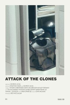 Star Wars attack of the clones alternative movie poster