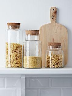 Organized kitchen: Glass Storage Jars | Cox & Cox.