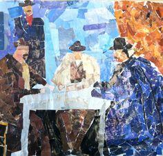 Post Impressionism collage Cezanne via Vik Muniz technique, 7th Grade (MS Art)