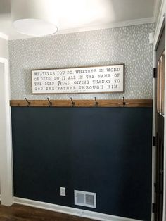 """This """"fawn spottiness"""" would be super easy, cute to recreate & cheap! DIY Easy Entryway Makeover with Paint! Mindful Gray, Hanging Light Fixtures, First Home, Textured Walls, Entryway Decor, Entryway Paint Colors, Home Renovation, Home Projects, Diy Home Decor"""