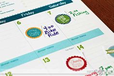 Free Printable Date Night Stickers for your calendar!