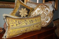 new collection of French antique ecclesiastical pillows