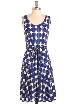 Frequent Flier Files Dress. Add this circle-patterned dress to your travel chronicles!  #modcloth