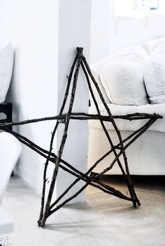 Christmas decor star. If you put a string of lights around this and put it at the top of the tree, it would look so much more beautiful