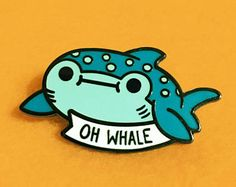 Oh Whale Hard Enamel Pin | Lapel Pin | Cute Whale Shark Pin. • pinterest & instagram - @ninabubblygum •