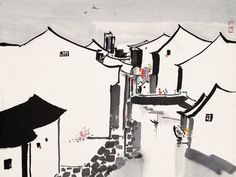 """Wu Guanzhong (simplified Chinese: 吴冠中; traditional Chinese: 吳冠中; August 29, 1919 – June 25, 2010) was a contemporary Chinese painter widely recognized as a founder of modern Chinese painting. Wu had painted various aspects of China, including much of its architecture, plants, animals, people, as well as many of its landscapes and waterscapes in a style reminiscent of the impressionist painters of the early 1900s."""