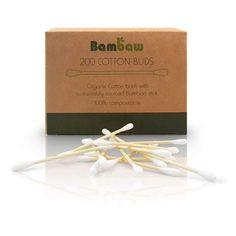 """""""Bambaw's cotton buds are the eco-friendly and plastic-free alternative to disposable cotton buds. The stick is made from organic and biodegradable bamboo. The cotton is sustainable and ethically crafted. Zero Waste Store, Cotton Swab, Paper Glue, Plastic Pollution, Plastic Packaging, Plastic Waste, Hygiene, Biodegradable Products, Bud"""