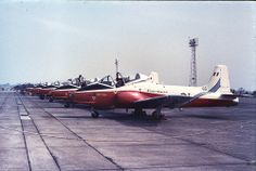 Jet Provost Display Team, Poachers. Sept. 1971, RAF Coltishall.