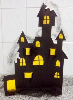 castelo mal assombrado festa halloween craft papel