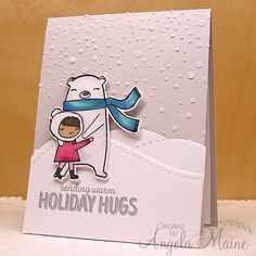 CAS349 Holiday Hugs by Arizona Maine - Cards and Paper Crafts at Splitcoaststampers