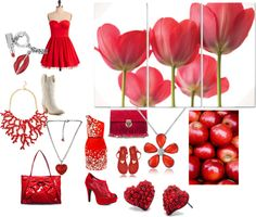 ruby red, created by samantha-edlin on Polyvore
