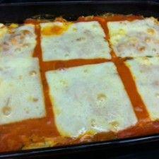 Ground Turkey & Three Cheese Spaghetti Squash Casserole. - Low carb, gluten-free, Low calorie Dinner