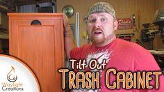 Make A Tilt Out Trash Cabinet