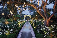 Floral idea: enchanted garden/ a mid summer nights wedding Flowers by Preston Bailey