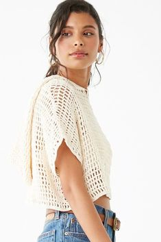 Crochet Crop Top, Crochet Blouse, Knit Crochet, Cropped Tops, Textiles Y Moda, Crop Top Designs, Crop Top Dress, Crochet Woman, Top Pattern