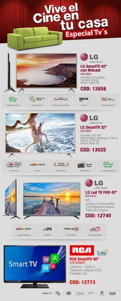 Vive el #cine en tu casa con#SmartTV y #LedTV #LG & #RCA @gvinformaticaAR - www.gvinformatica.com.ar