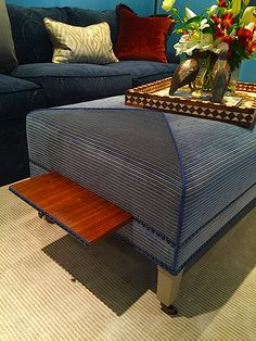 Trey LaFave ottoman at Sotheby's Designer Showhouse auction