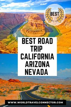 The Best Southwest USA Road Trip Itinerary: California-Arizona-Nevada - The Ultimate USA Southwest Road Trip: how to visit magical Sedona, spectacular Horseshoe Bend, surr - West Coast Road Trip, Us Road Trip, Road Trip Hacks, Grand Canyon, Las Vegas, Death Valley, California Travel, Nevada California, American Canyon California