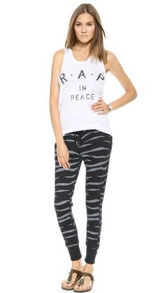 Zoe Karssen Slim Fit Zebra Sweatpants