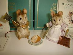 R John Wright Hunca Munca Tom Thumb Mice Matching Numbers with Boxes | eBay