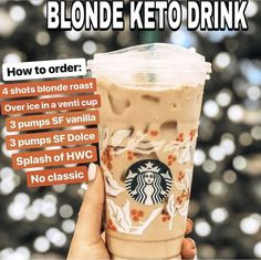 Keto Starbucks Drinks: 15 Low-Carb Orders - Green and Keto - Keto Starbucks Drinks: 15 Low-Carb Orders - Green and Keto Food! Keto Starbucks Drinks: 15 Low-Carb Orders - Green and Keto - Yummy Drinks, Healthy Drinks, Atkins, Starbucks Secret Menu Drinks, Starbucks Coffee, Sugar Free Starbucks Drinks, Starbucks Hacks, Iced Americano Starbucks, Low Calorie Starbucks Drinks