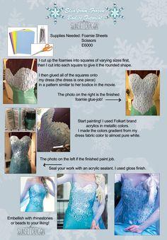 Queen Elsa from Frozen: DIY Bodice Tutorial by Flying-Fox.deviantart.com on @deviantART