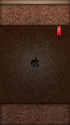 !!TAP AND GET THE FREE APP! Lockscreens Locked Unicolor Leather Purse Apple Texture Minimalistic Simple Apple Logo HD iPhone 5 Wallpaper