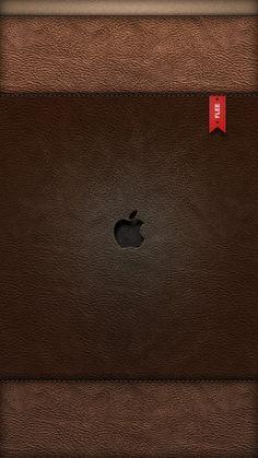 !!TAP AND GET THE FREE APP! Lockscreens Locked Unicolor Leather Purse Apple Texture Minimalistic Simple Apple Logo HD iPhone 5 Wallpaper