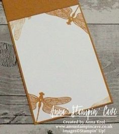 Dragonfly Dreams Clean & Simple Card For GDP#069 Colour Challenge using Dragonfly Dreams Stamp Set and coordinating Detailed Dragonfly Thinlits Dies