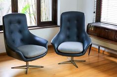 Mid Century Egg Swivel Chairs