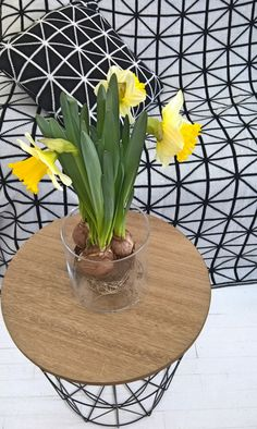 De jolies fleurs illuminent l'intérieur de 'Miss Red' dans leur #vase #babou 3€50 !