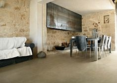Glass decors and porcelain tiles coordinated: Materia Project