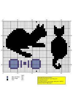 chat - cat - broderie - cross stitch - Point de croix - Blog…