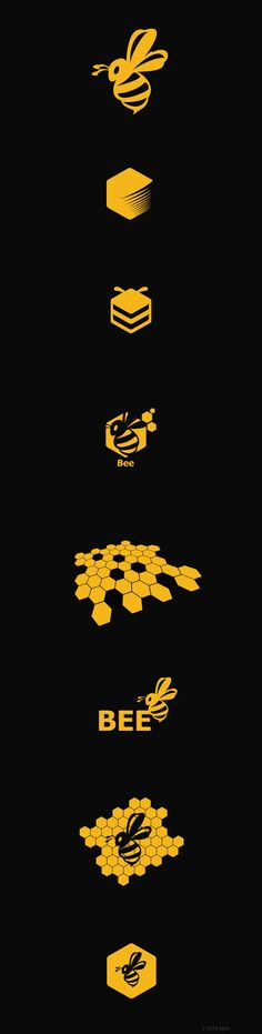 #bee #logo #design #icon #yellow