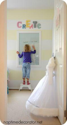 DIY Dry Erase Board, Create, Little Girl's room