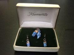 Vintage KREMENTZ sterling silver Dutch shoe Necklace & Earrings Set #Krementz