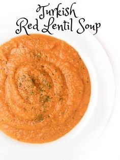 Scented with mint and cumin, this hearty Turkish Red Lentil Soup is packed with vegetables and loaded with protein. Kid-friendly and quick to prepare. @TheLemonBowl