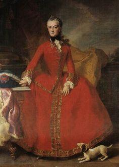 1750s - Maria Anna Sophie Sabina Angela Franziska Xaveria of Saxony (1728-1797) by ?